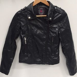 DollHouse Faux Leather Biker Jacket Size: S